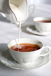 чай с молоком для похудения на ночь